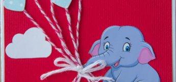 """Майстер-клас """"Листівка з добрим слоником"""""""