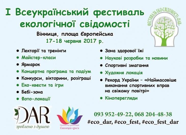 І Всеукраїнський фестиваль екологічної свідомості