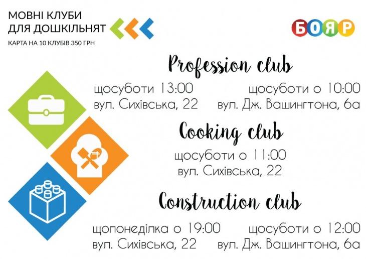 Англомовні клуби для дошкільнят