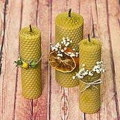 Ароматизовані Медові свічки з  вощини.