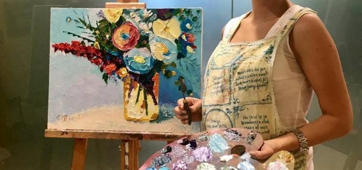 """Майстер-клас з олійного живопису """"Натюрморт з квітами"""""""