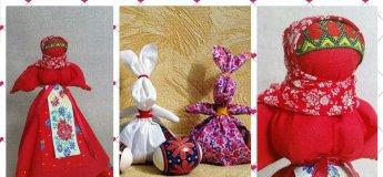 """Майстер-клас з виготовлення ляльок-мотанок  «Пасхальна голубка» та """"Великодній зайчик"""""""