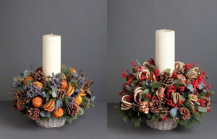 Різдвяний стіл прикрасить вінок з свічки!
