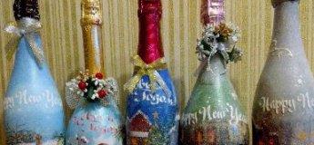 Декорування Новорічного шампанського