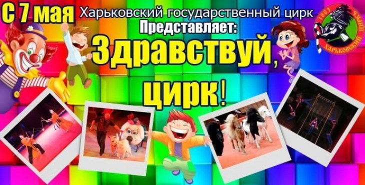Программа «Здравствуй, цирк!» в Харьковском государственном цирке