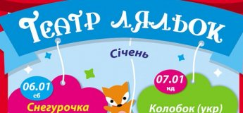 Афіша лялькового театру на січень