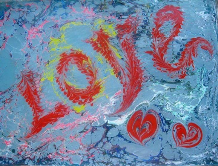 """Майстер-клас """"Малюємо на воді любов"""""""