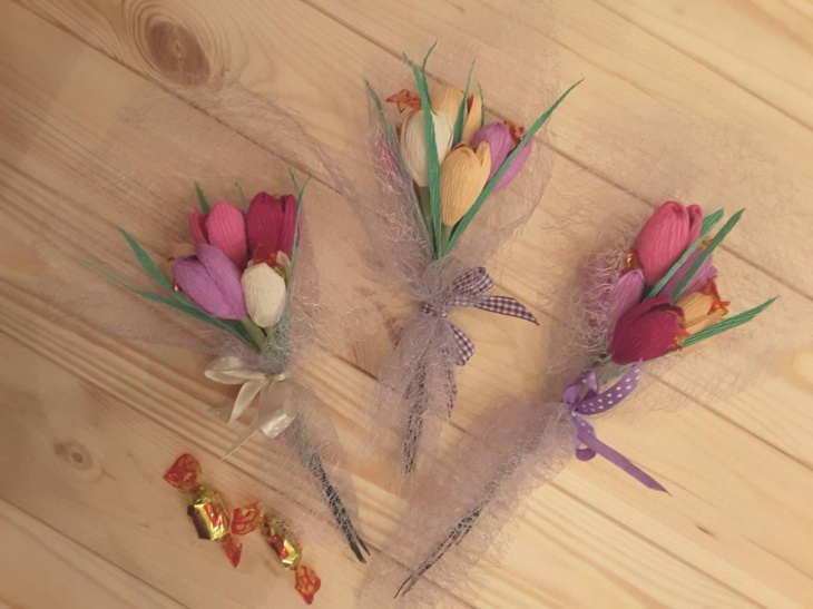 Солодкий букет до свята Весни! Запрошуємо на майстер-клас діточок з 4-х років