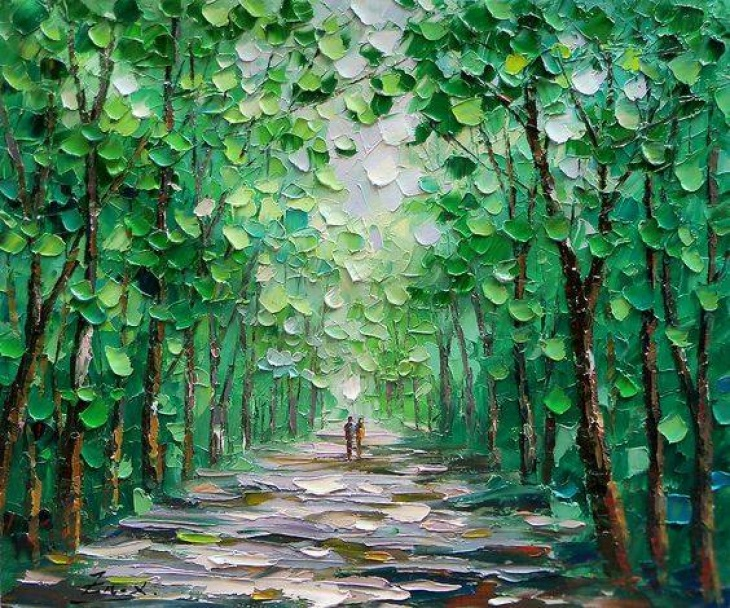 """Майстер-клас із живопису """"Весняна прогулянка"""""""