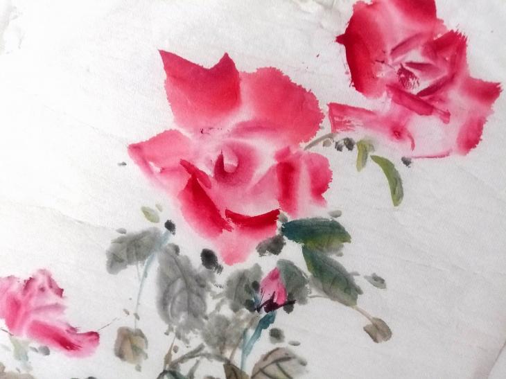 Червона троянда. Майстер-клас з китайського живопису