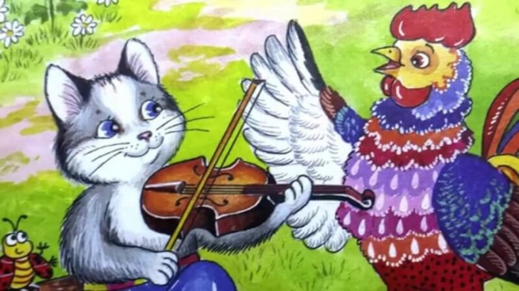 Казка для дітей «Котик та півник»