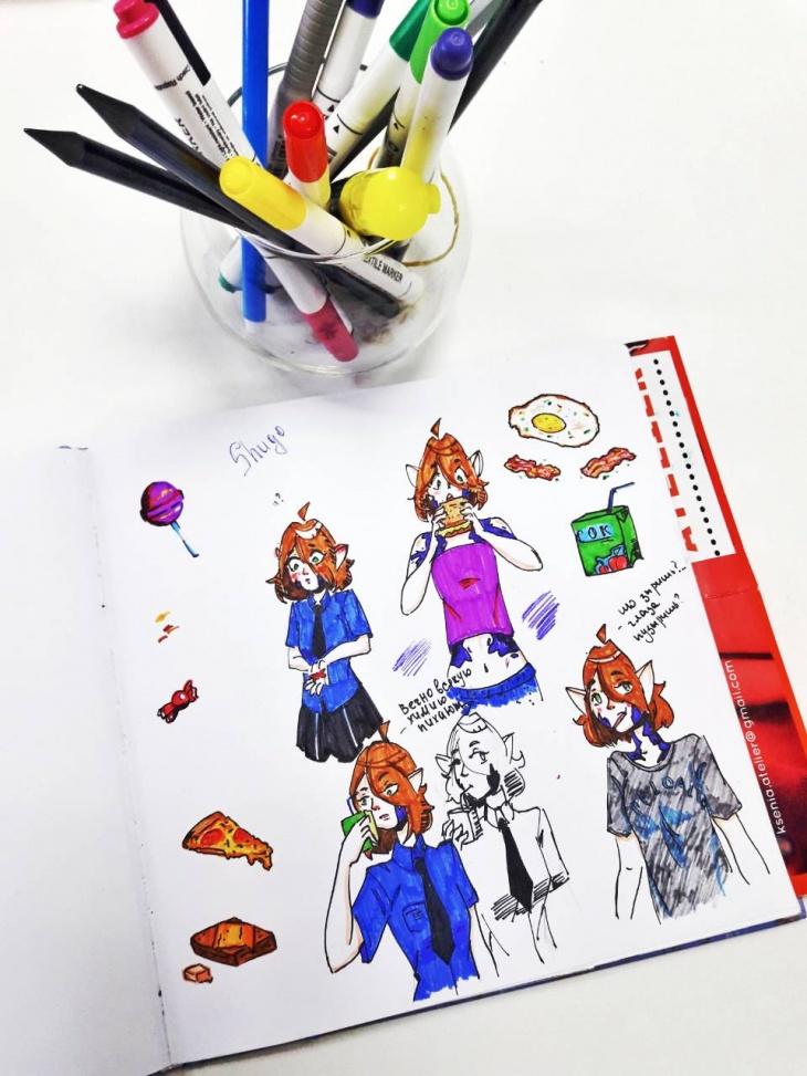 Занятия по скетчингу аниме