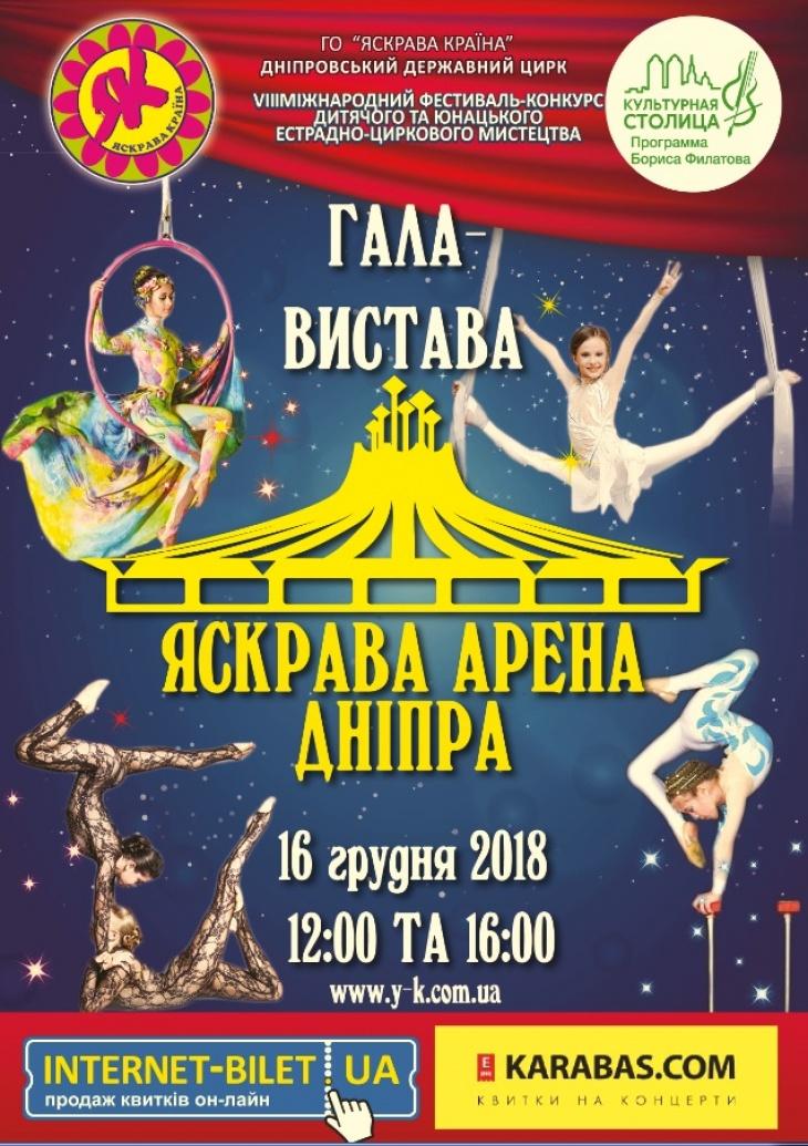 "Цирковое представление ""Яскрава Арена Дніпра - 2018"""