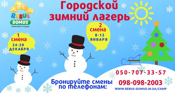 Лагерь для школьников на зимних каникулах Ребус Домус