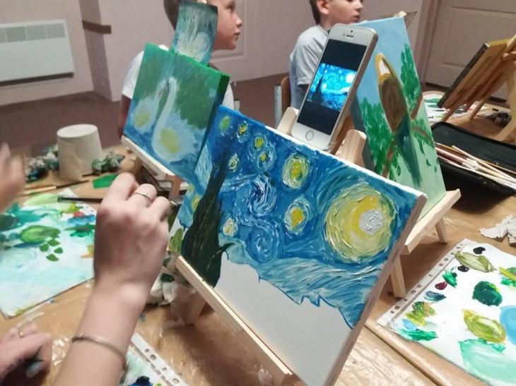 """Живопис олією """"Картина за дві години"""" для дорослих та дітей"""