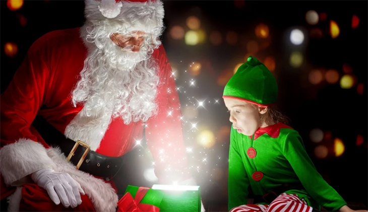 Новогодняя феерия подарков в волшебной стране для детей Кидландия