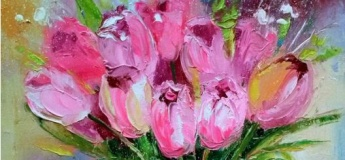 """Интуитивное рисование """"Тюльпаны, нарциссы - Весна"""""""