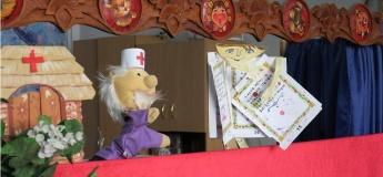"Зверьки лечат книгу. Спектакль кукольного театра ""Казкарик"""