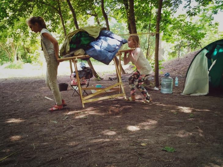 Денний табір Халлі Галлі на свіжому повітрі в Гідропарку