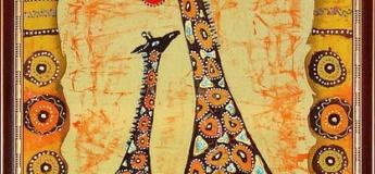 "МК интуитивное рисование ""Жирафы"""