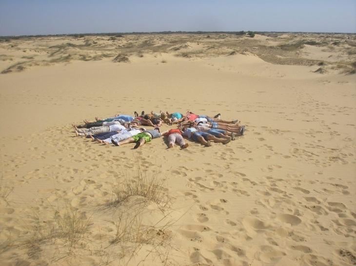 Маевка в Олешковских песках