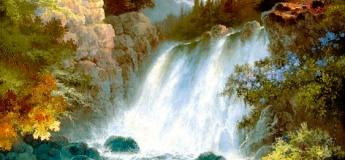 "Интуитивное рисование ""Водопад в лесу"""