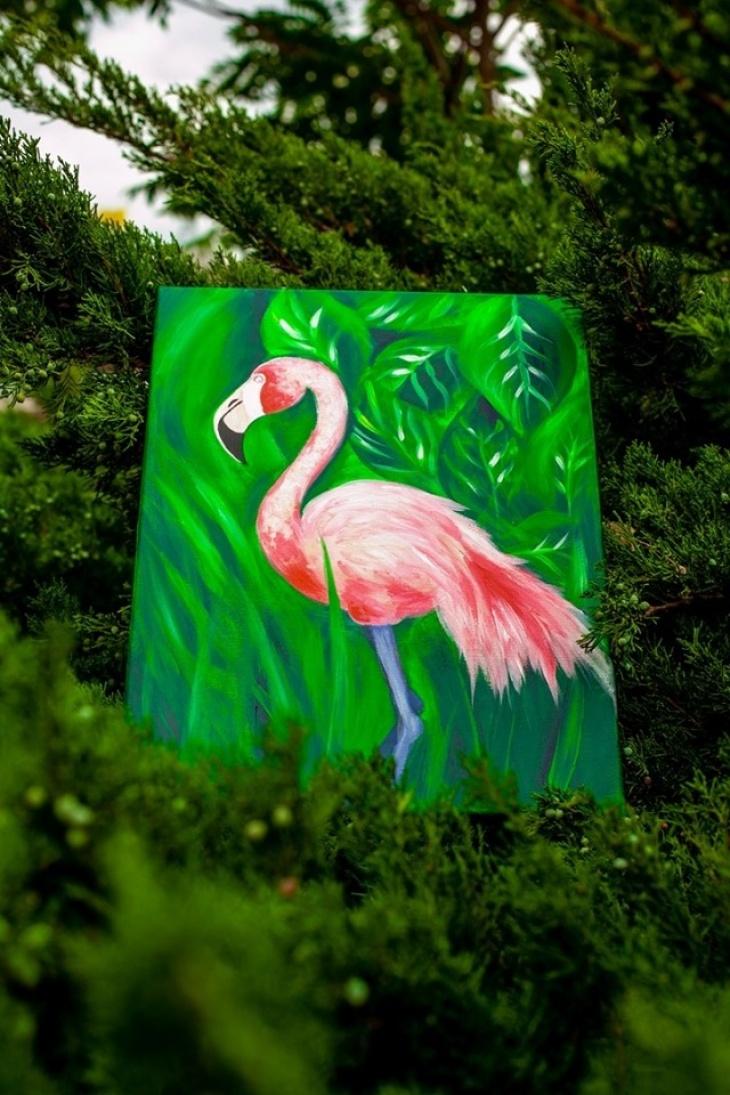 """Мастер-класс по рисованию """"Фламинго-Бинго"""""""