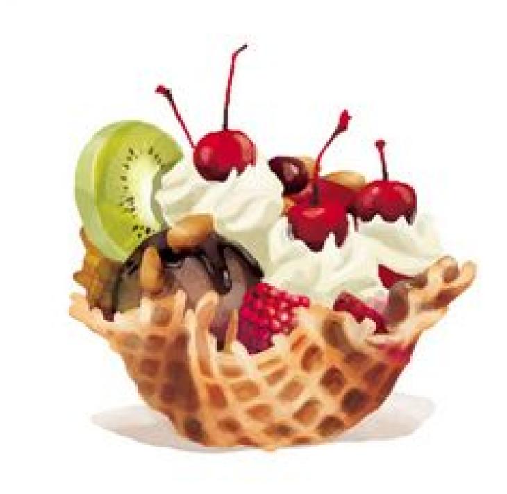 """Интуитивное рисование """"Мороженое - пирожное"""""""