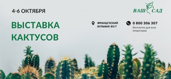 """Выставка Кактусов 4-6 октября в """"Ваш Сад"""""""