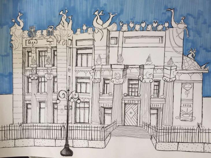 """Інклюзивний конкурс дитячого малюнку """"Будинок з химерами"""""""