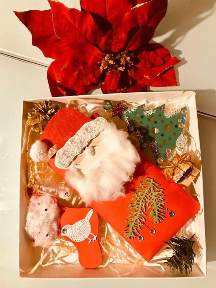 """Новогодний МК """"Подарочная коробочка с наполнением"""""""