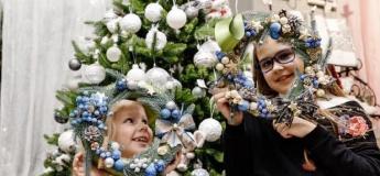 Різдвяний віночок з живої ялинки для дітей