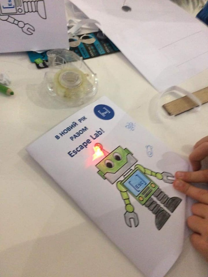 Праздничная LED -открытка своими руками