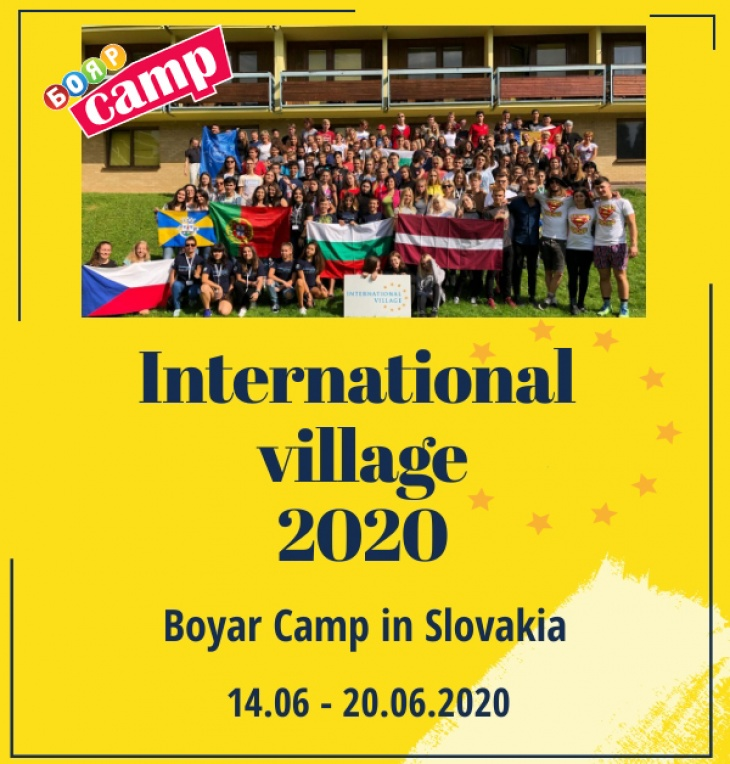 International village 2020. Boyar Camp in Slovakia
