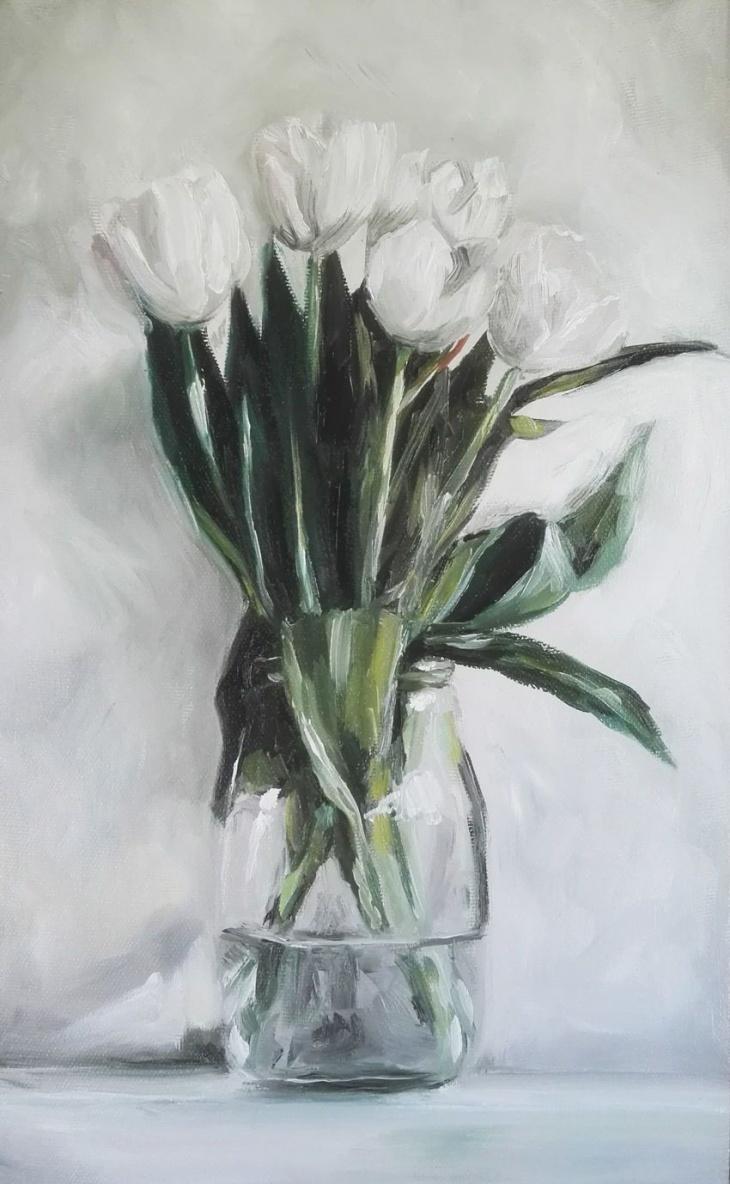 МК з олійного живопису-тюльпани