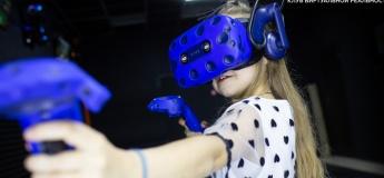 50% скидка на час игры в виртуальной реальности с друзьями! Называй промокод «дети в городе» и играй!