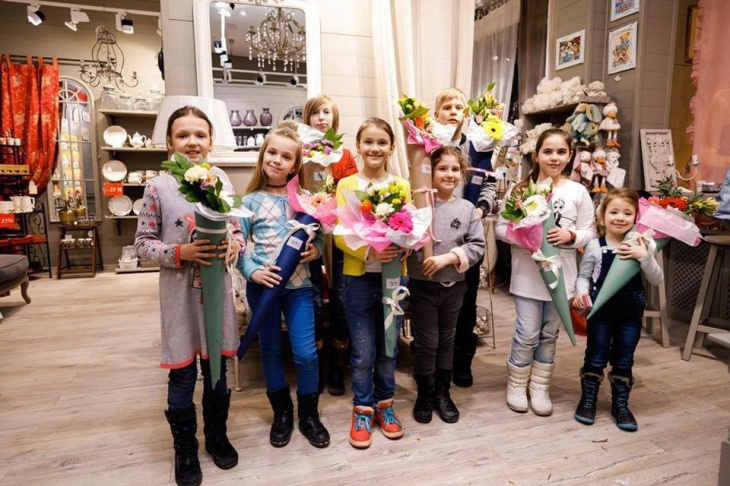 Флористичний майстер клас для дітей