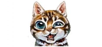 """Майстер-клас з живопису для дітей """"Кіт"""""""
