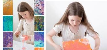 Fluid art для дітей