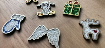 Мастер-класс по новогодней мозаике
