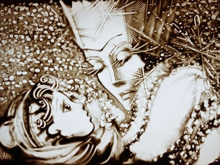 Онлайн премьера песочной сказки «Снежная Королева» от театра «Золотой Лев»