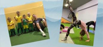 Первая пробная тренировка по гимнастике и футболу для мальчиков и девочек