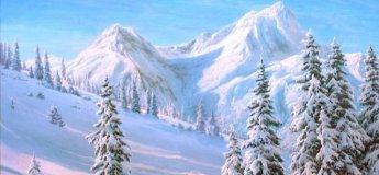 """Майстер-клас із малювання """"Зима в Карпатах"""""""