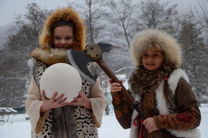 Занятие по фотопозированию + фотосессия в стиле викингов в киношколе ZIRKA