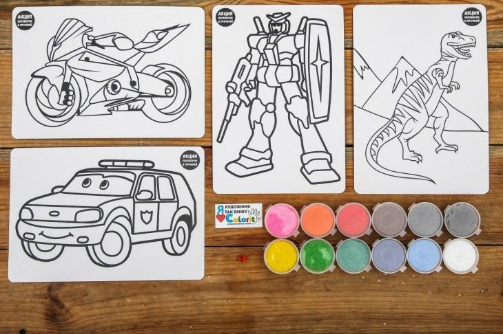 """""""Colorit"""" майстер-класи по малюванню картин кольоровим піском в школах, садочках та інших закладах"""
