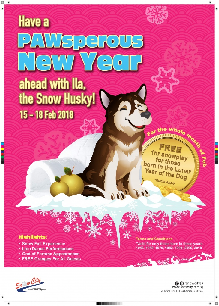 Have a PAWsperous New Year ahead with Ila, the Snow Husky!