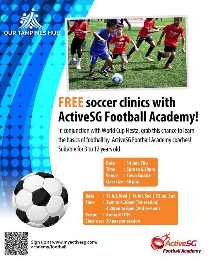 Soccer Clinics with ActiveSG Football Academy