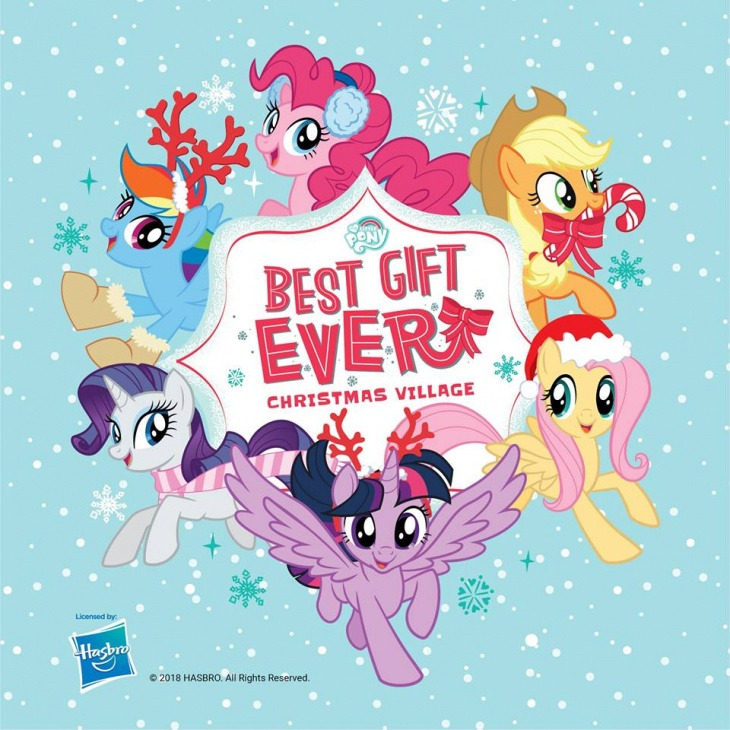 My Little Pony Christmas.My Little Pony Best Gift Ever Christmas Village Event