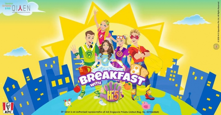 Complimentary Breakfast with Hi5 Cast | Tickikids Singapore