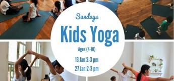 January 2019 Bi-weekly Kids Yoga Classes